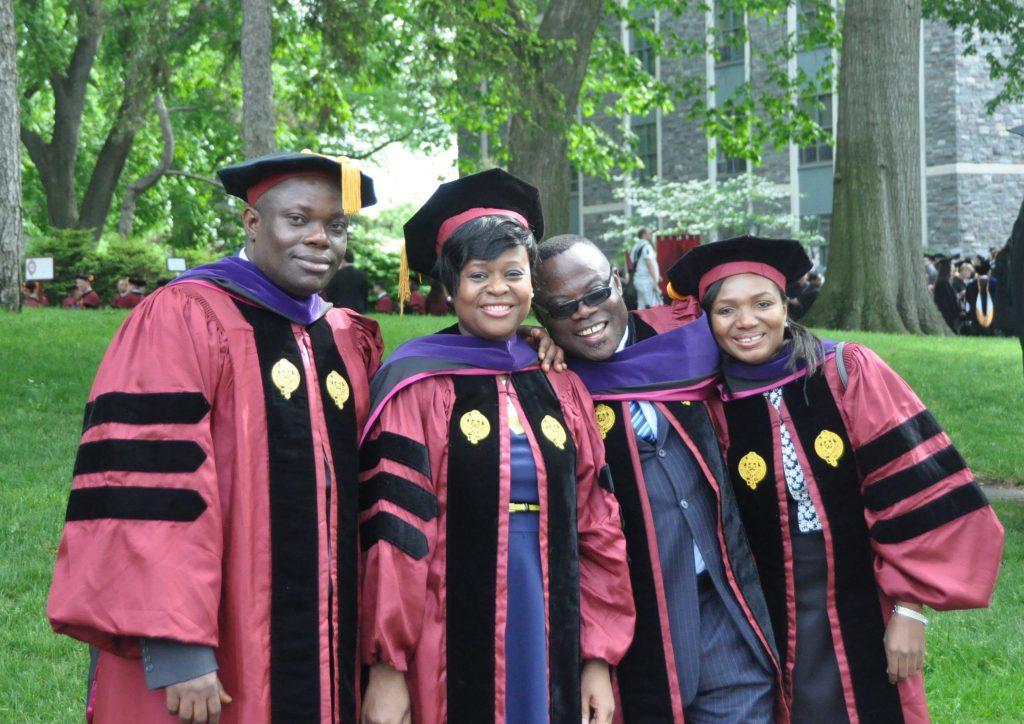 From left: Alexander Tutu Osei, Afi Agbanu Kudomor, George Buadi, and Mariama Sammo. Photo by Chris Gosier