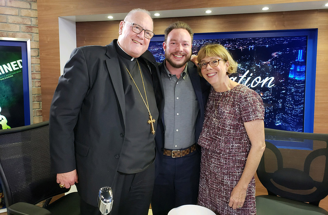 Timothy Cardinal Dolan with Nancy and J.P. Vericker