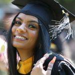 woman grad in cap