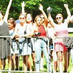 spectators cheering